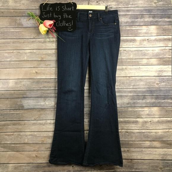 Paige Jeans Jeans Paige Lou Lou Petite Flare Dark Wash Size 29